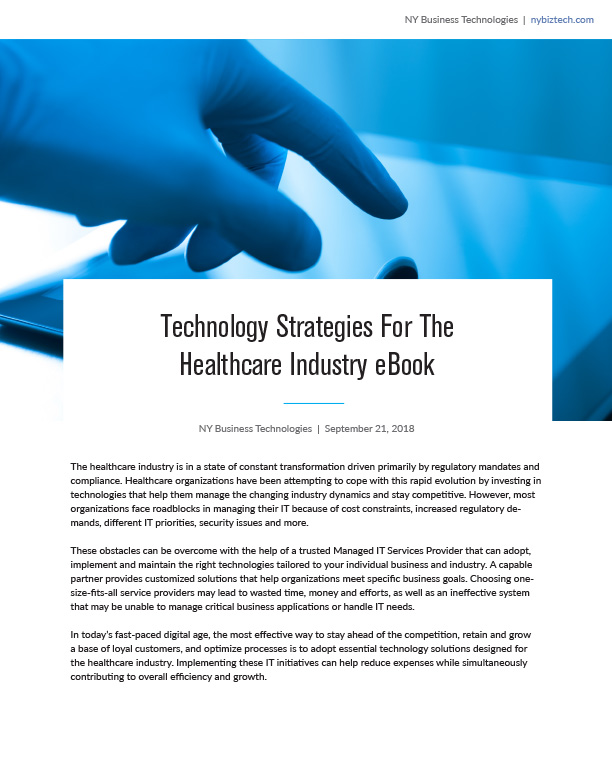 Technology Strategies for the Healthcare Industry eBook